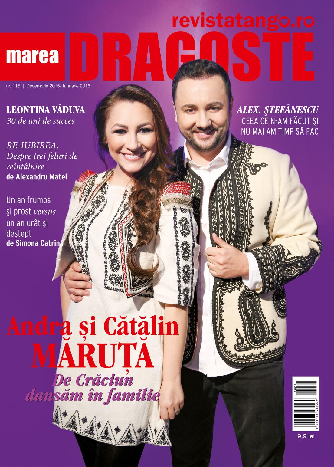 Coperta revista tango-Marea Dragoste, nr. 115, Andra si Catalin Maruta, decembrie 2015-ianuarie 2015