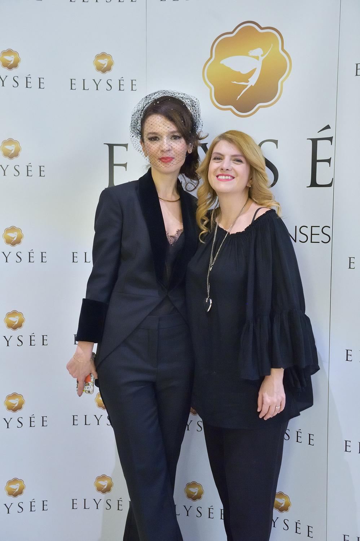Cristina Balan și Alice Năstase Buciuta la inaugurarea Elysee Gallery