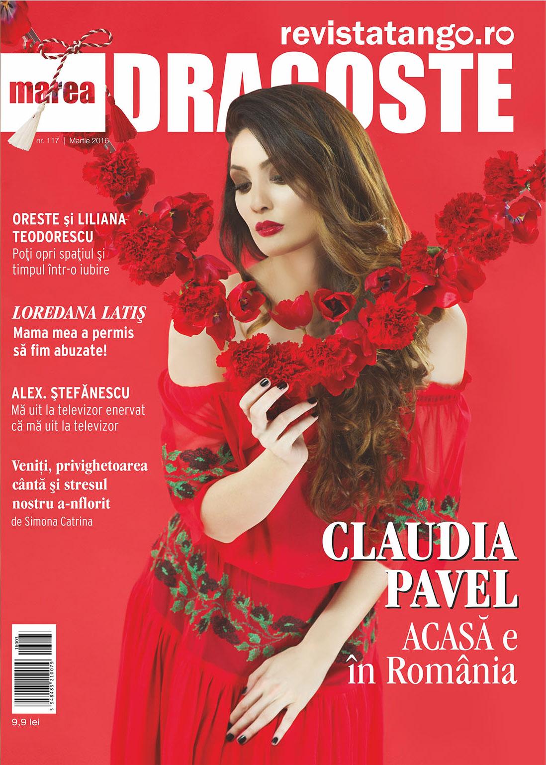 Coperta Marea Dragoste-revistatango.ro, nr. 117; Claudia Pavel