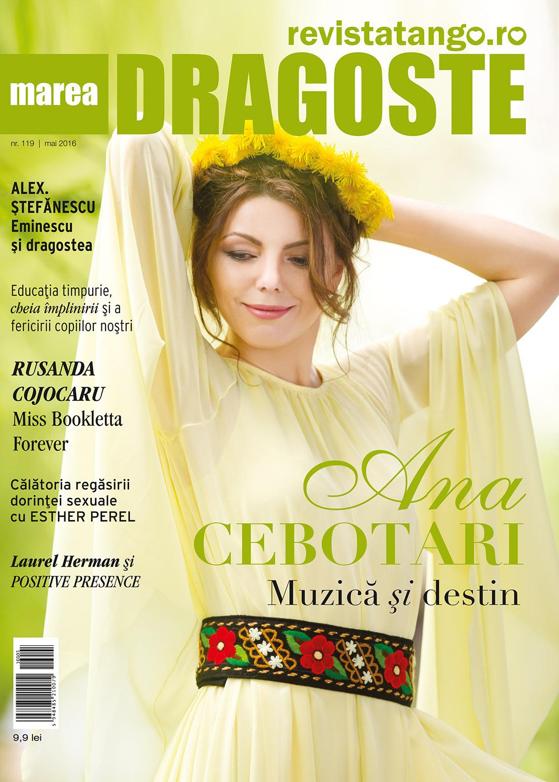 Ana Cebotari pe coperta Marea Dragoste-revistatango.ro, nr. 119, mai 2016