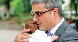 Robert Turcescu si fiica cea mica, Vera Ilinca Turcescu