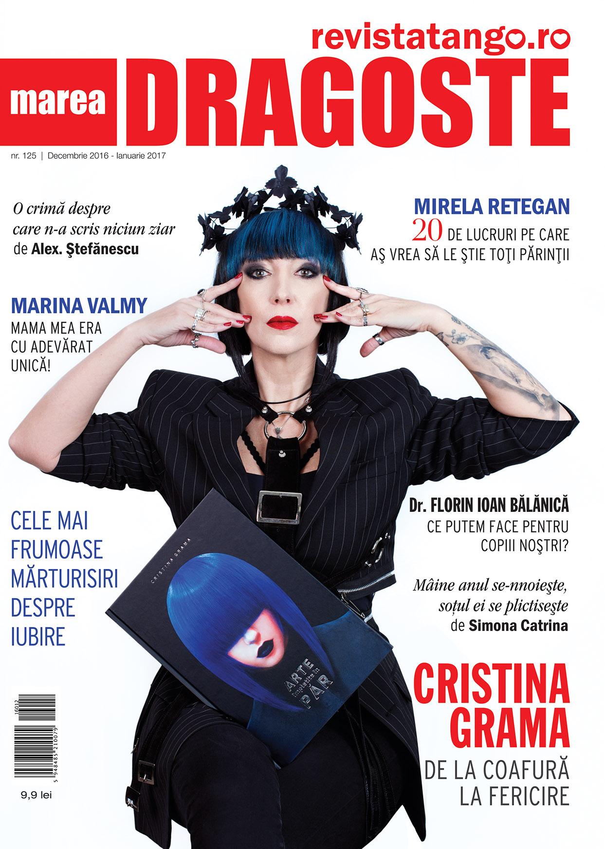 coperta Marea Dragoste-RevistaTango, nr. 125_decembrie 2016-ianuarie 2017_Cristina Grama
