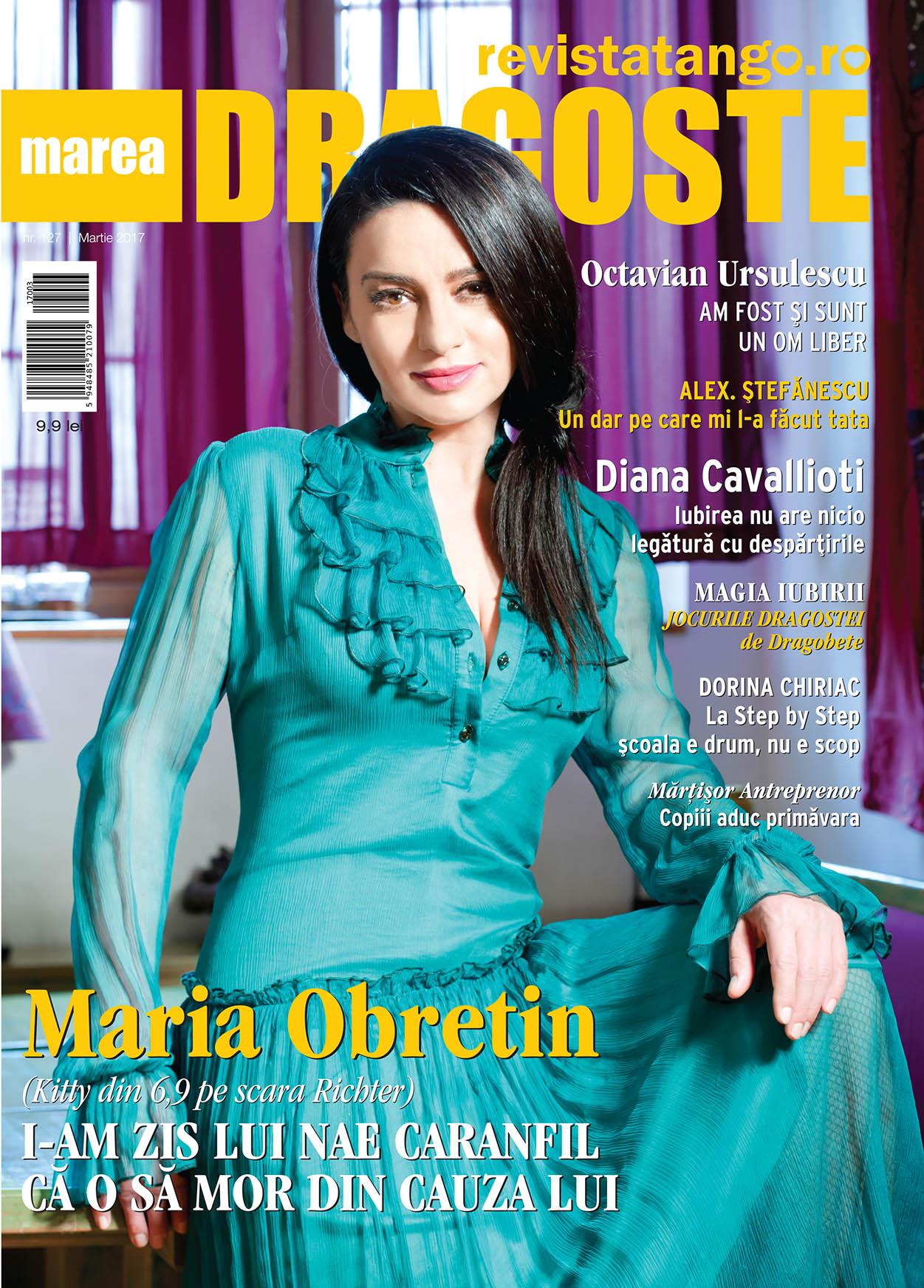 Maria Obretin pe coperta Marea Dragoste-revistatango.ro, nr. 127, martie 2017