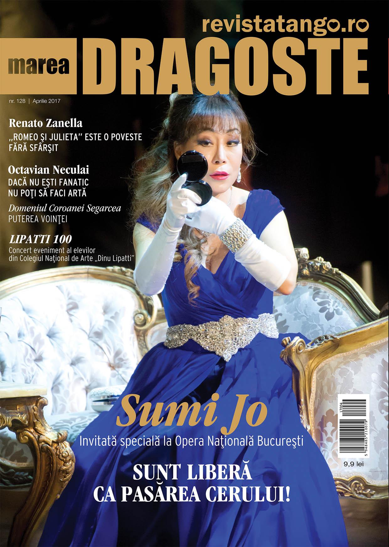 Sumi Jo pe coperta Marea Dragoste-revistatango.ro, nr. 128, aprilie 2017