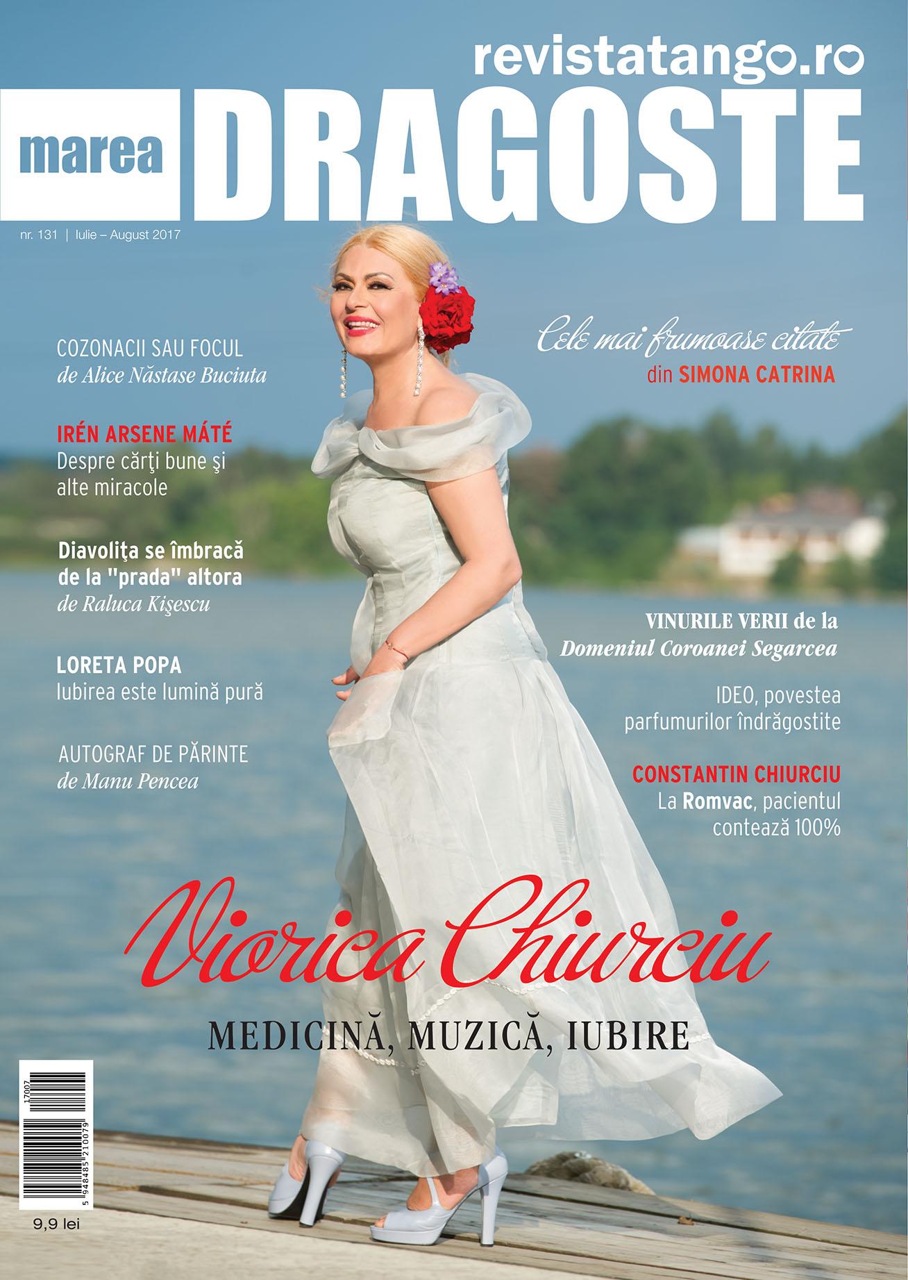 Viorica Chiurciu pe coperta Marea Dragoste-revistatango.ro, nr. 131, iulie - august 2017
