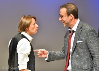 """Premiera spectacolului de teatru """"Demnitate"""", producția Teatrului Avangardia, scrisă și regizată de spaniolul Ignasi Vidal, cu Marius Manole si Serban Pavlu."""