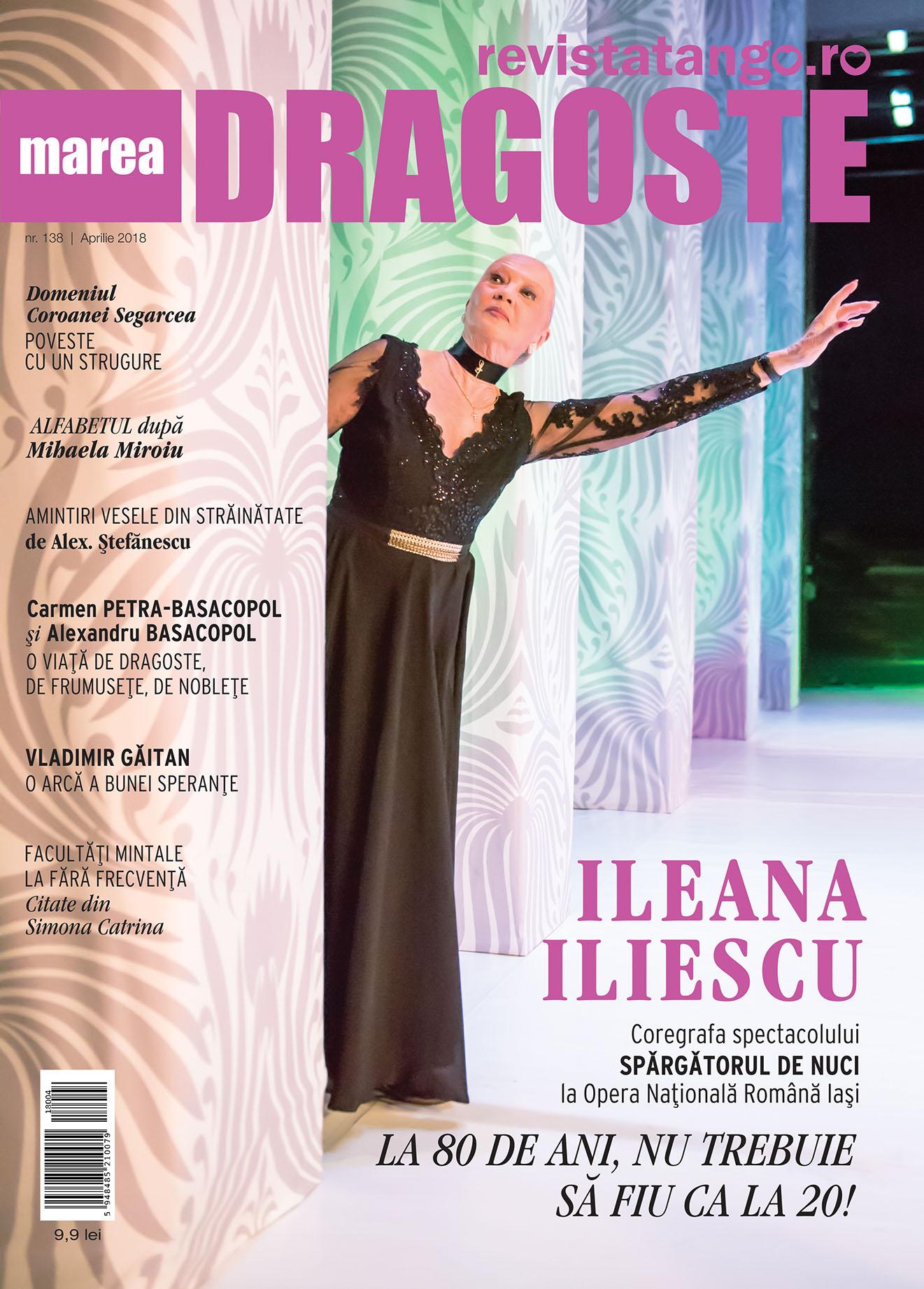 Ileana Iliescu pe coperta Marea Dragoste-revistatango.ro, nr. 138, aprilie 2018