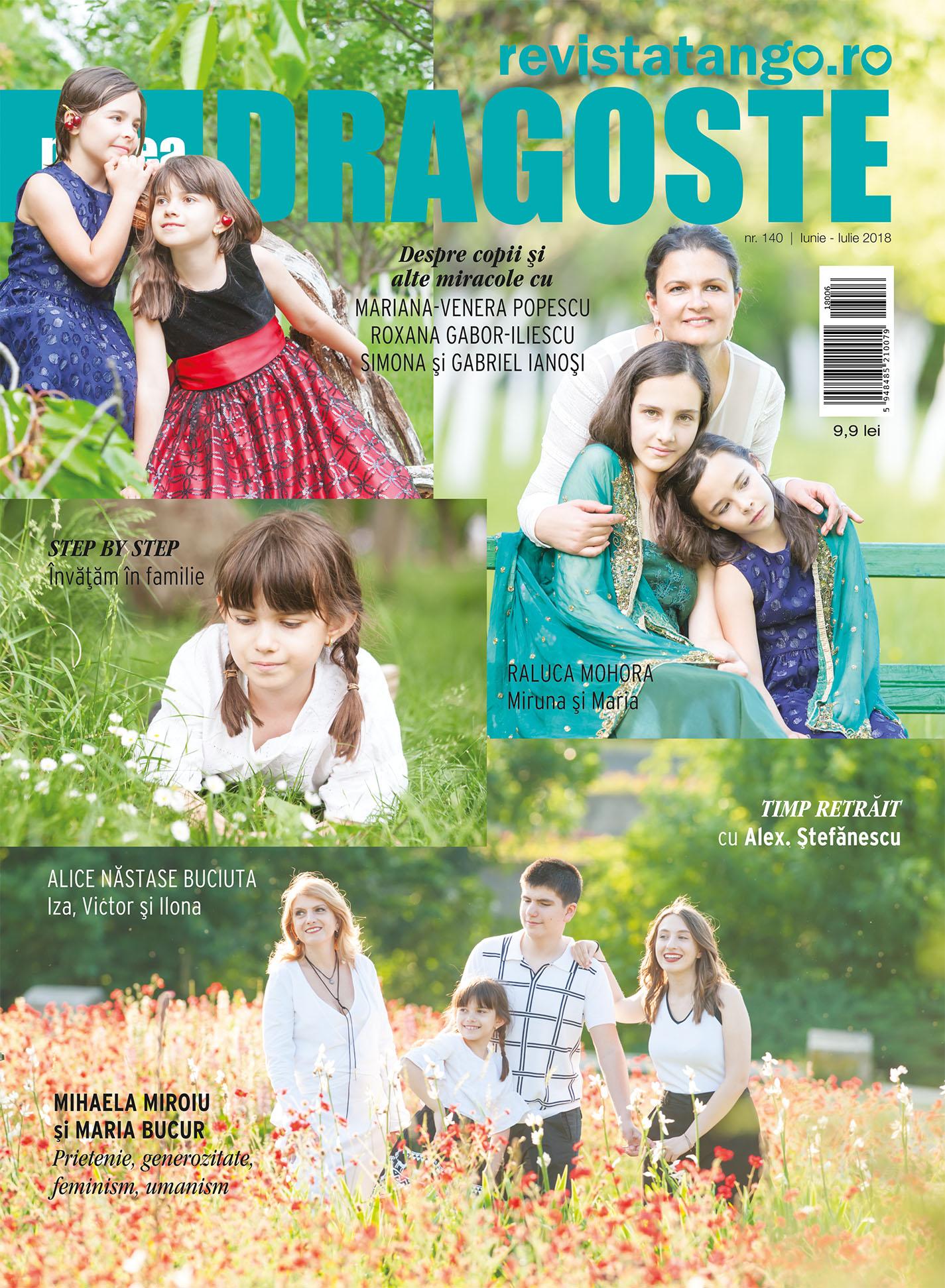 Raluca Mohora, Alice Nastase Buciuta, pe coperta Marea Dragoste-revistatango.ro, nr. 140, iunie-iulie 2018