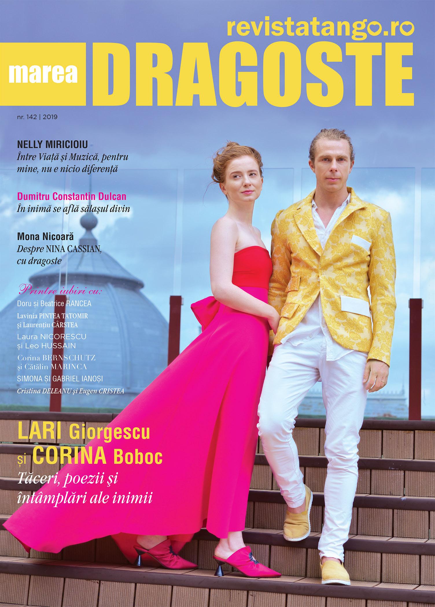 Lari Giorgescu si Corina Boboc pe coperta Marea Dragoste-revistatango.ro, nr. 142, 2019